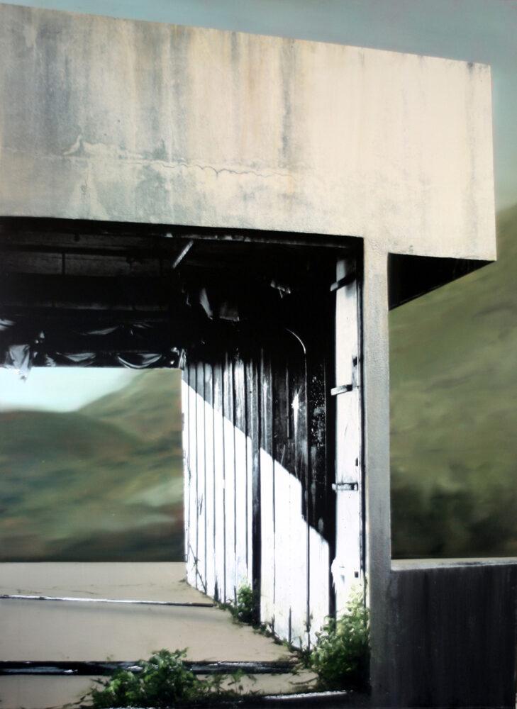 4-eva-Nielsen--Display-190x140cm-2014-mixed-media-on-canvas